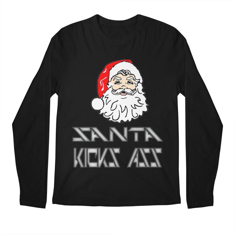 Santa Kicks Ass! Men's Longsleeve T-Shirt by ericallen's Artist Shop