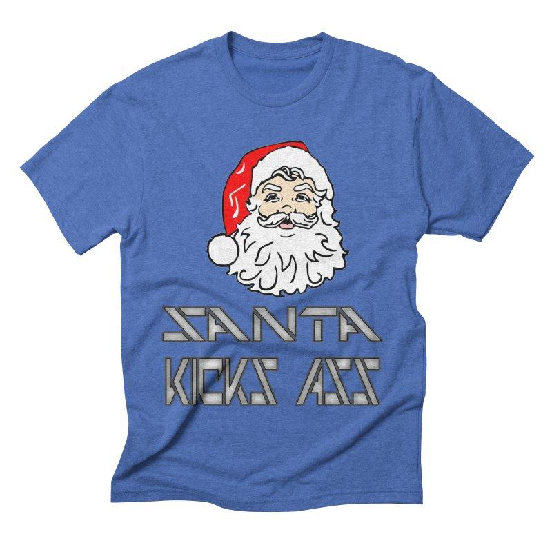 Santa Kicks Ass! Men's Triblend T-Shirt by ericallen's Artist Shop