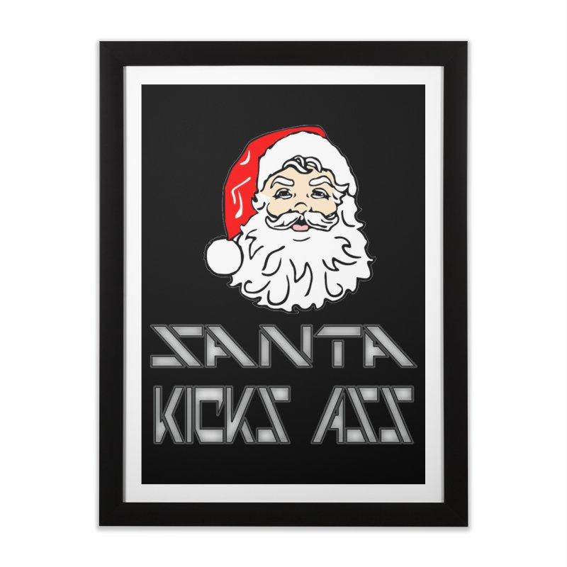 Santa Kicks Ass! Home Framed Fine Art Print by ericallen's Artist Shop