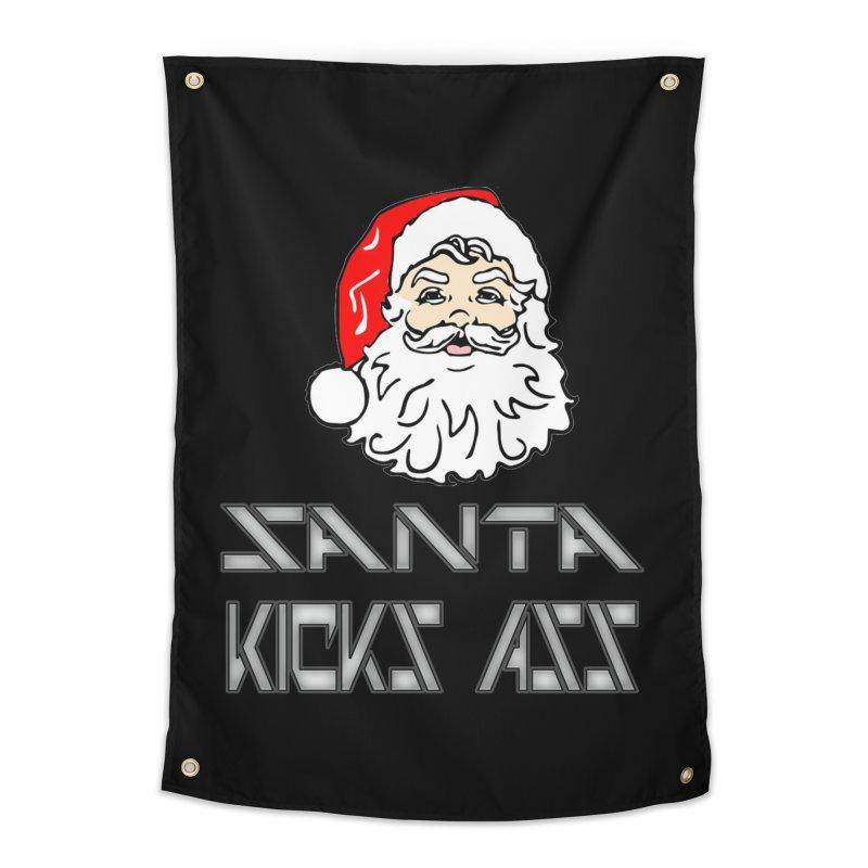 Santa Kicks Ass! Home Tapestry by ericallen's Artist Shop