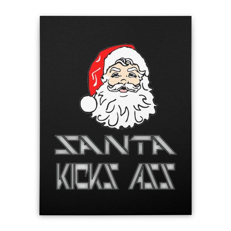 Santa Kicks Ass! Home Stretched Canvas by ericallen's Artist Shop