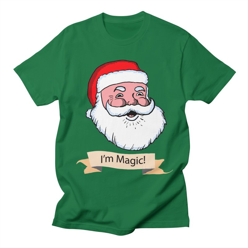 I'm Magic Santa in Men's T-Shirt Kelly Green by ericallen's Artist Shop
