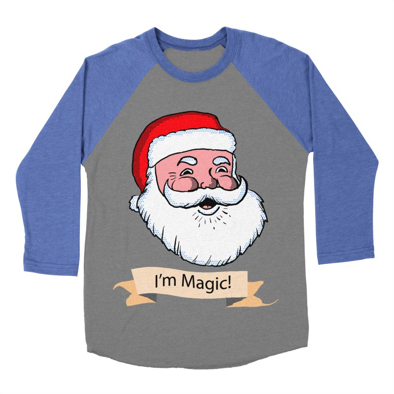 I'm Magic Santa Women's Baseball Triblend T-Shirt by ericallen's Artist Shop