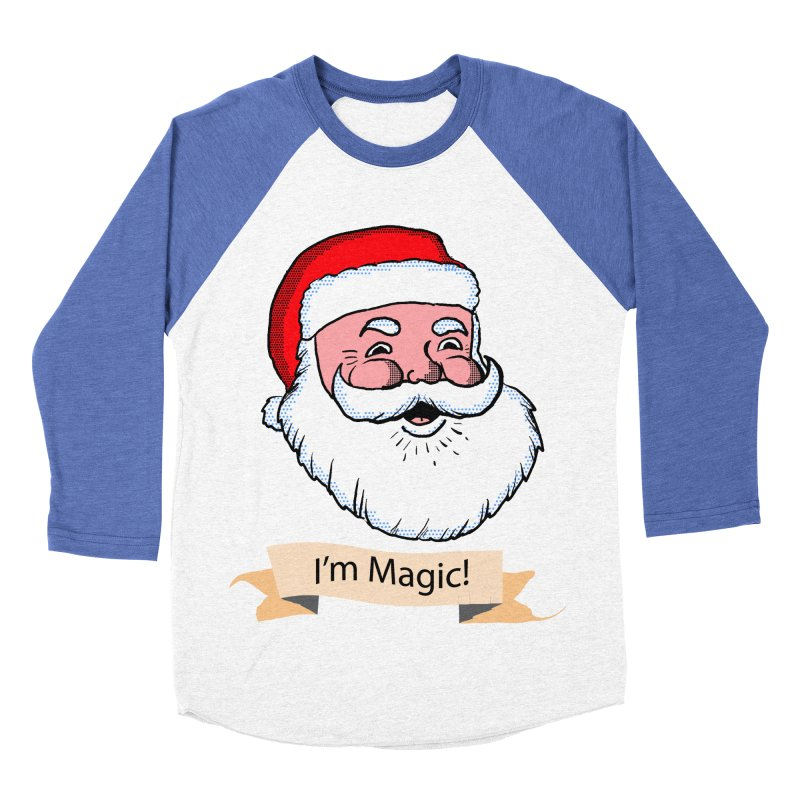 I'm Magic Santa Men's Baseball Triblend T-Shirt by ericallen's Artist Shop