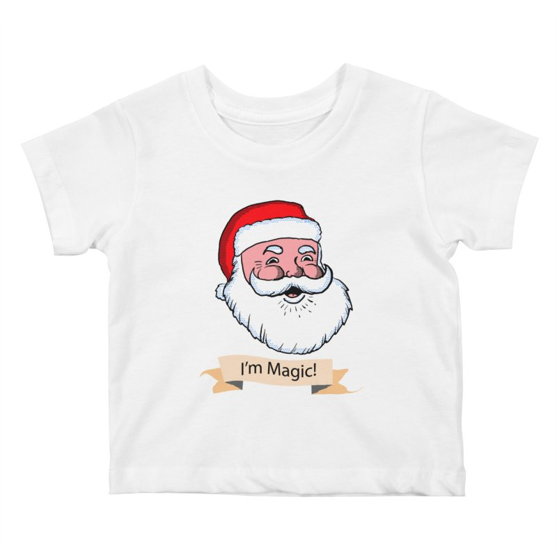 I'm Magic Santa Kids Baby T-Shirt by ericallen's Artist Shop