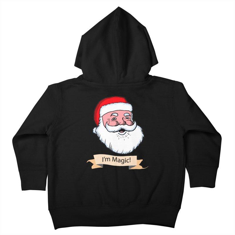 I'm Magic Santa Kids Toddler Zip-Up Hoody by ericallen's Artist Shop