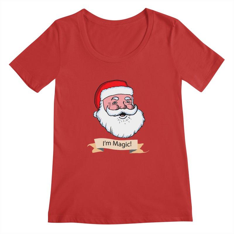 I'm Magic Santa Women's Scoopneck by ericallen's Artist Shop
