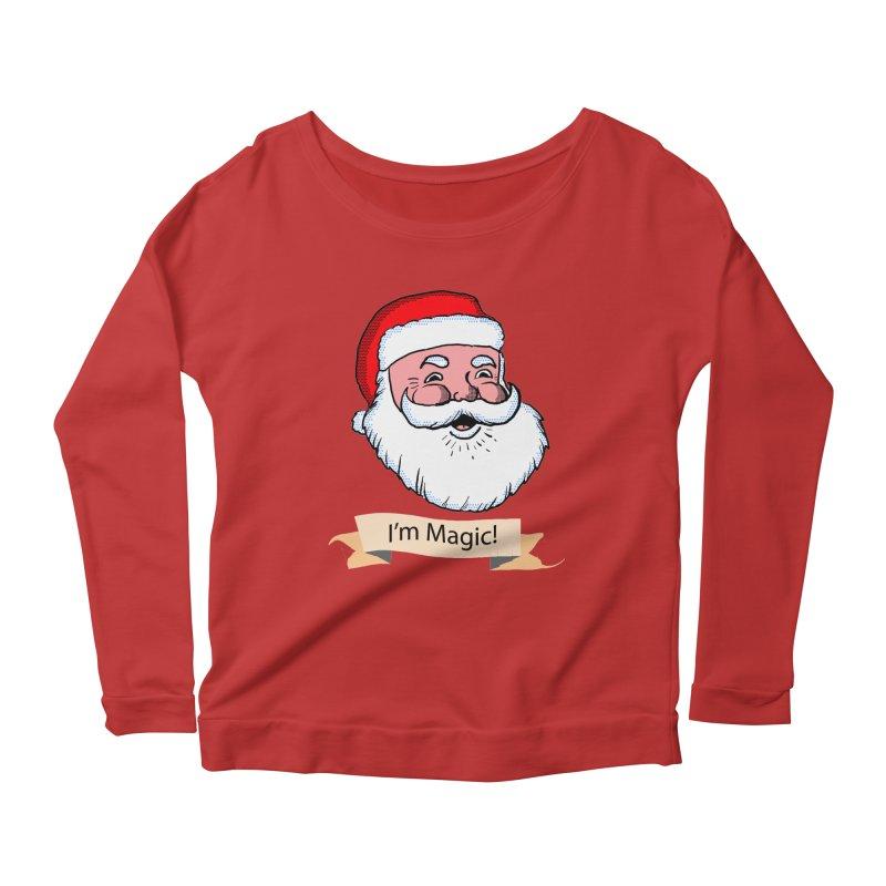 I'm Magic Santa Women's Longsleeve Scoopneck  by ericallen's Artist Shop