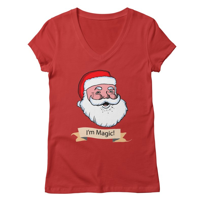 I'm Magic Santa Women's V-Neck by ericallen's Artist Shop