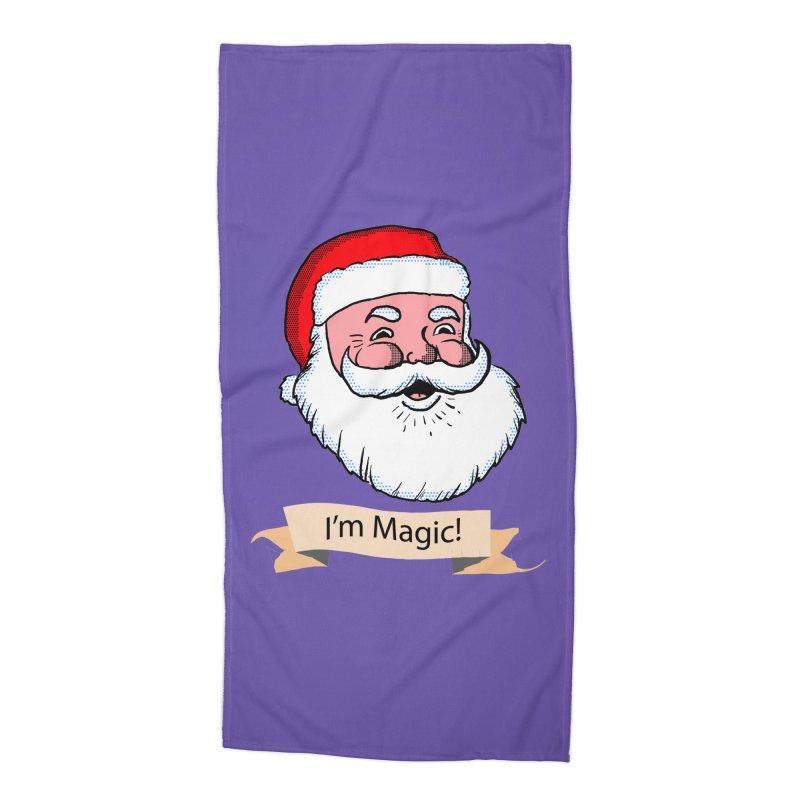 I'm Magic Santa Accessories Beach Towel by ericallen's Artist Shop