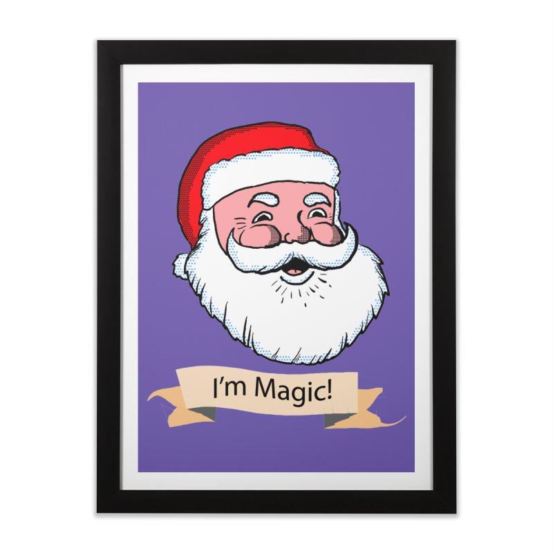 I'm Magic Santa Home Framed Fine Art Print by ericallen's Artist Shop