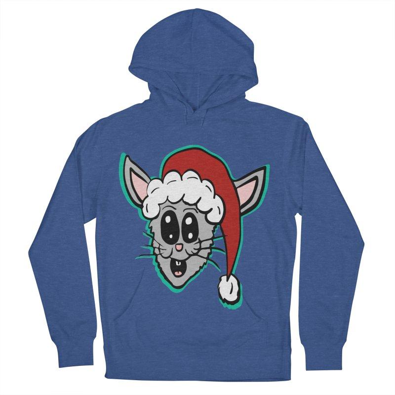 Cartoon Christmas Bunny Head Women's Pullover Hoody by ericallen's Artist Shop