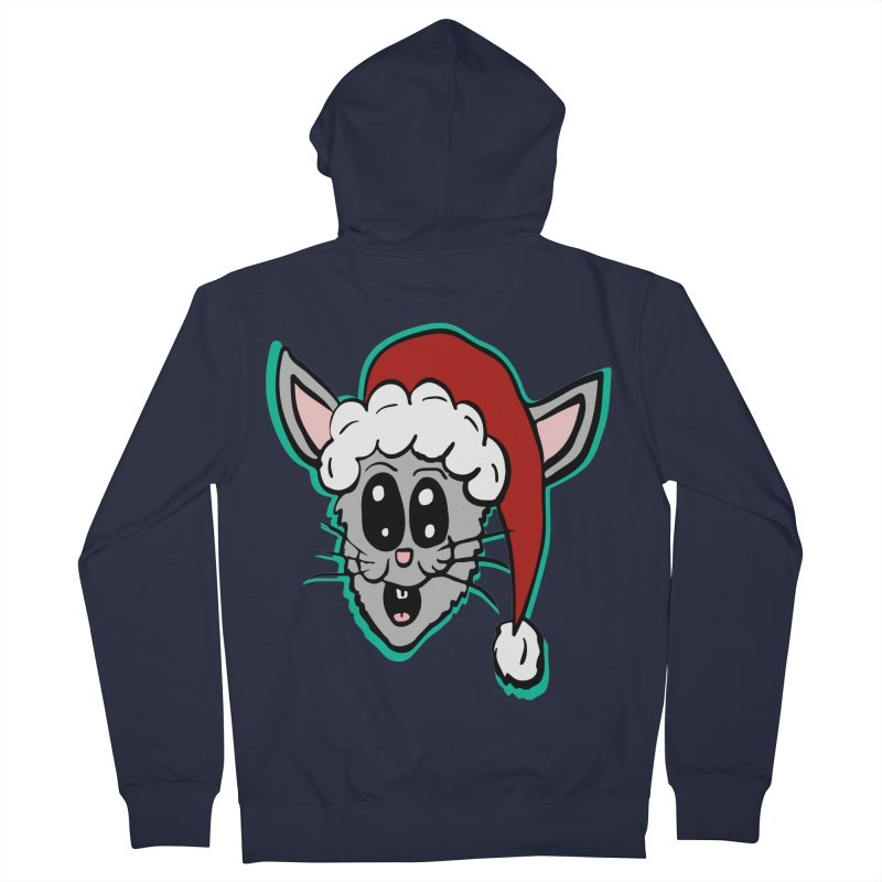 Cartoon Christmas Bunny Head Women's Zip-Up Hoody by ericallen's Artist Shop