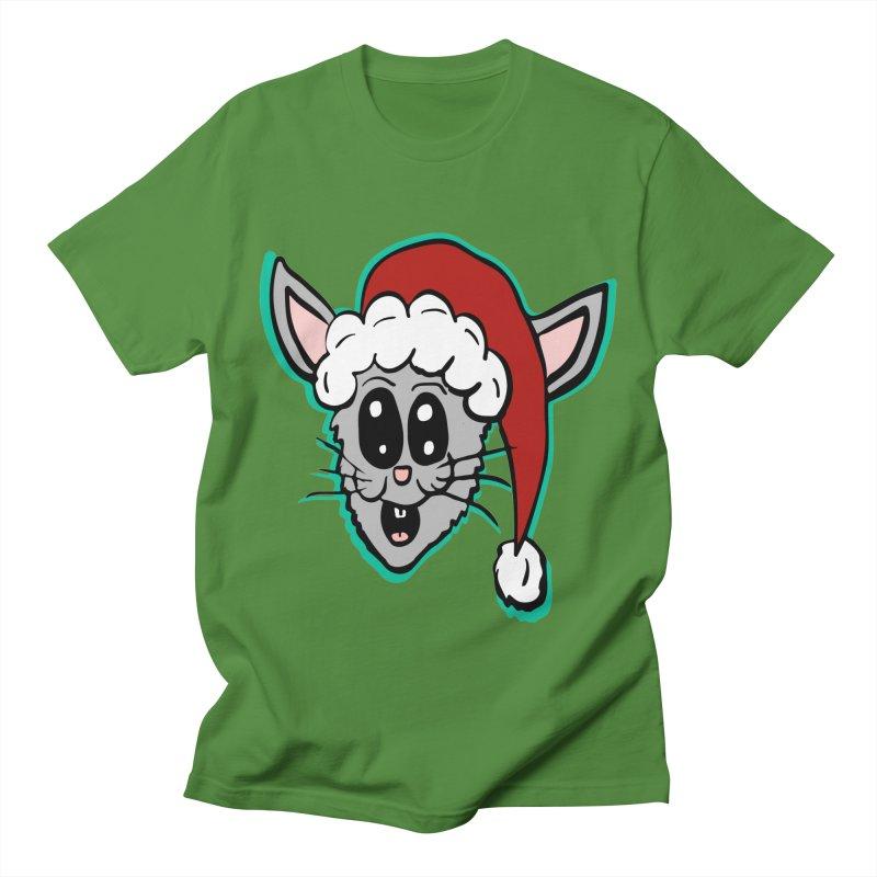 Cartoon Christmas Bunny Head Men's T-Shirt by ericallen's Artist Shop