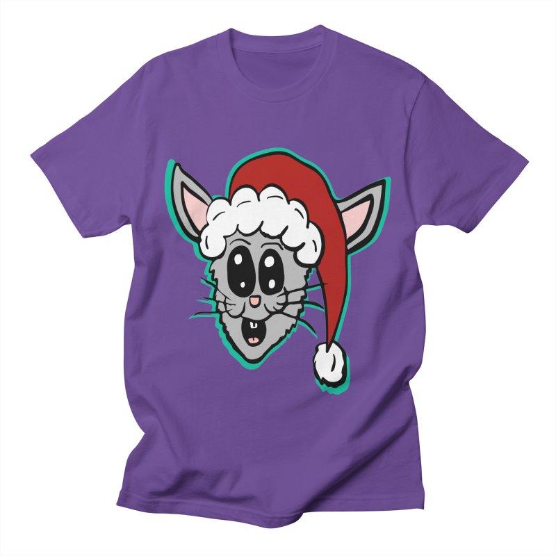 Cartoon Christmas Bunny Head Women's Unisex T-Shirt by ericallen's Artist Shop