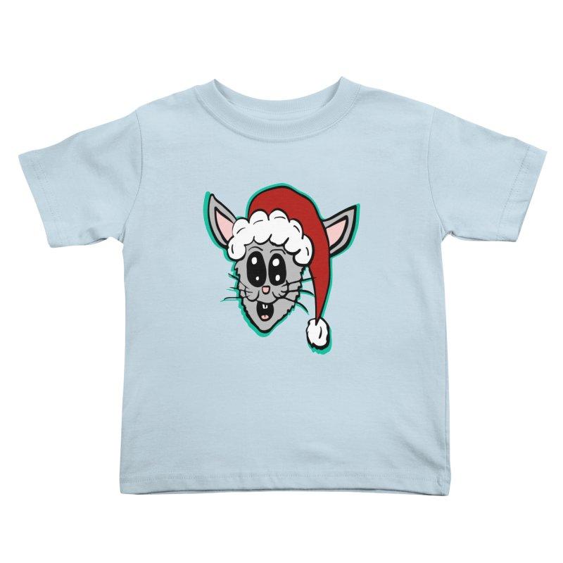 Cartoon Christmas Bunny Head Kids Toddler T-Shirt by ericallen's Artist Shop