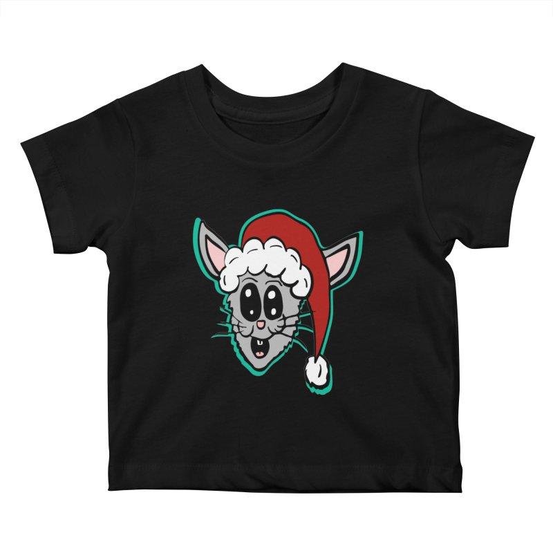 Cartoon Christmas Bunny Head Kids Baby T-Shirt by ericallen's Artist Shop