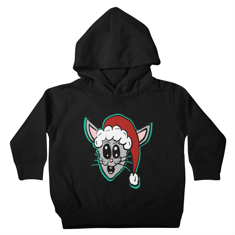 Cartoon Christmas Bunny Head Kids Toddler Pullover Hoody by ericallen's Artist Shop