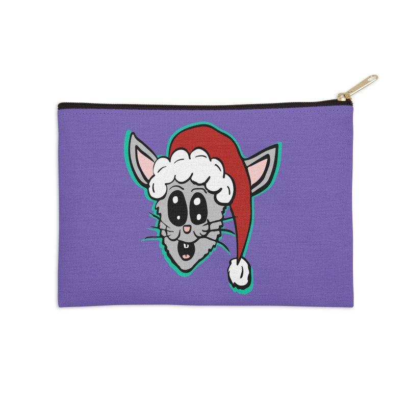 Cartoon Christmas Bunny Head Accessories Zip Pouch by ericallen's Artist Shop