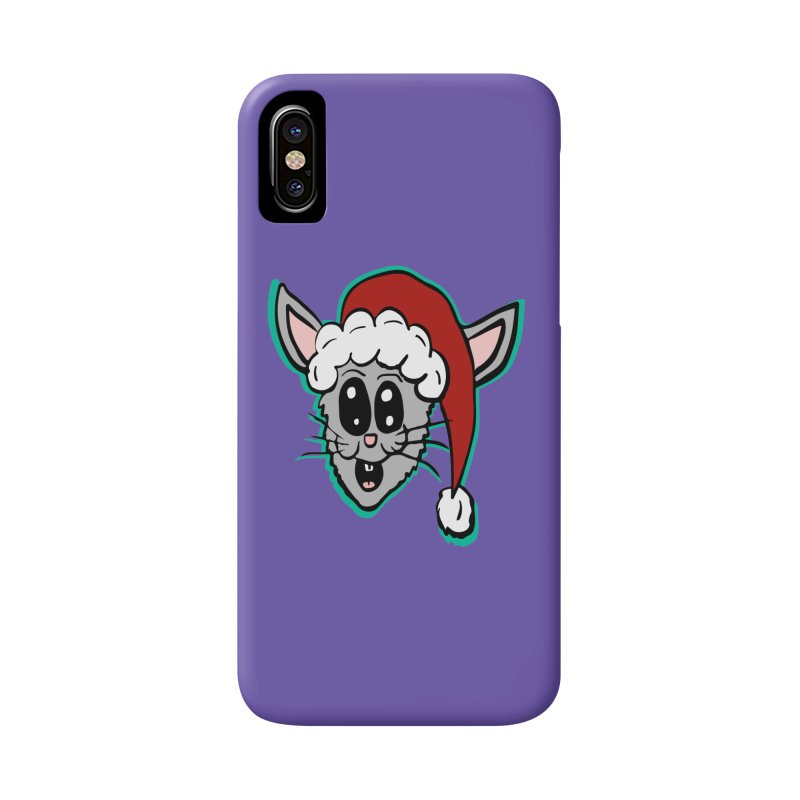 Cartoon Christmas Bunny Head Accessories Phone Case by ericallen's Artist Shop