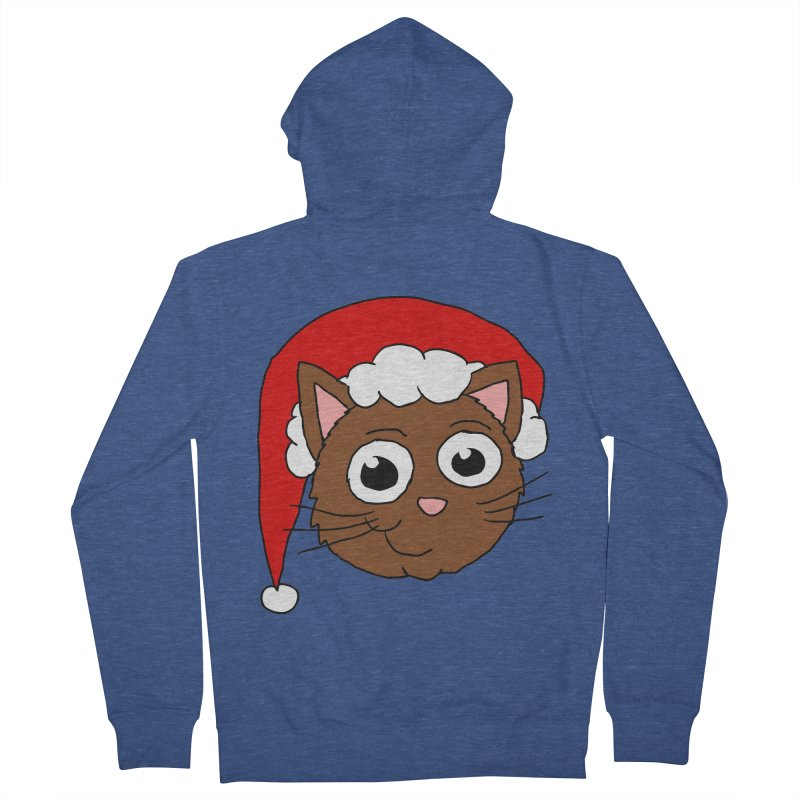 Cute Xmas Kitty Women's Zip-Up Hoody by ericallen's Artist Shop