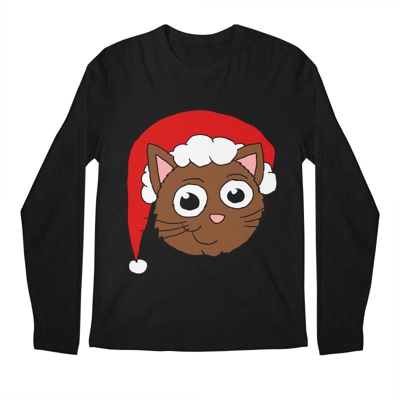 Cute Xmas Kitty Men's Longsleeve T-Shirt by ericallen's Artist Shop