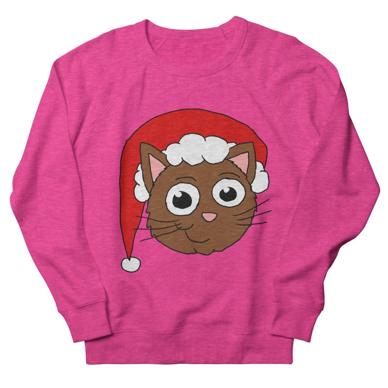 Cute Xmas Kitty Women's Sweatshirt by ericallen's Artist Shop