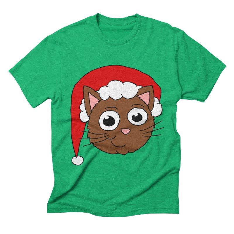 Cute Xmas Kitty Men's Triblend T-Shirt by ericallen's Artist Shop