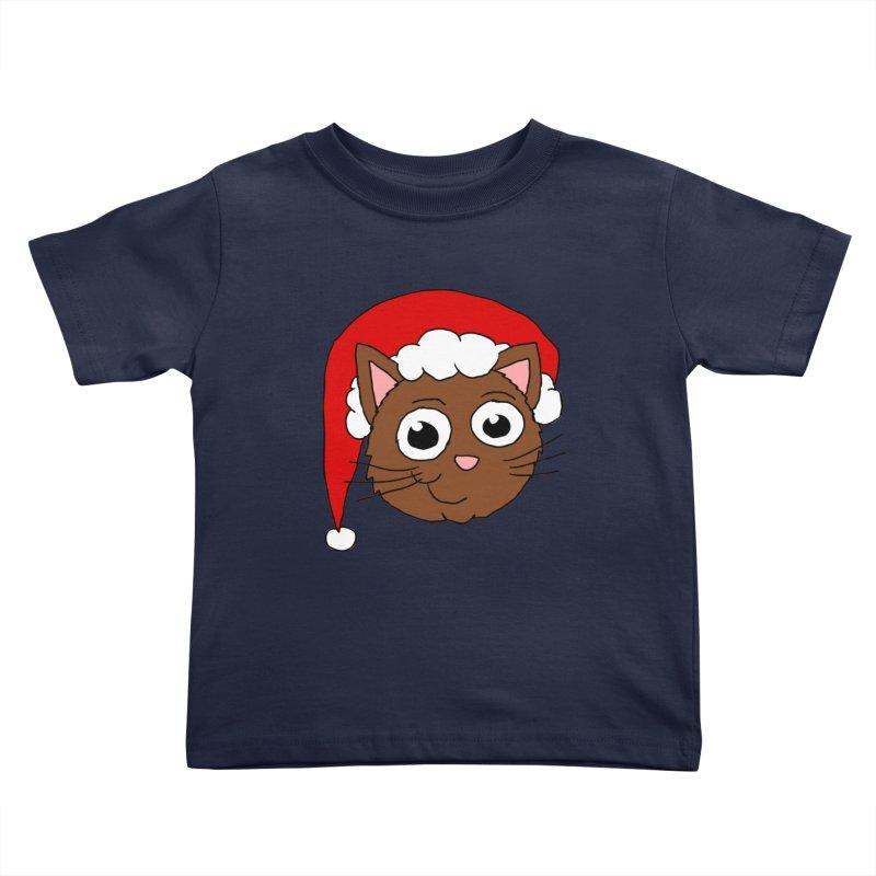 Cute Xmas Kitty Kids Toddler T-Shirt by ericallen's Artist Shop