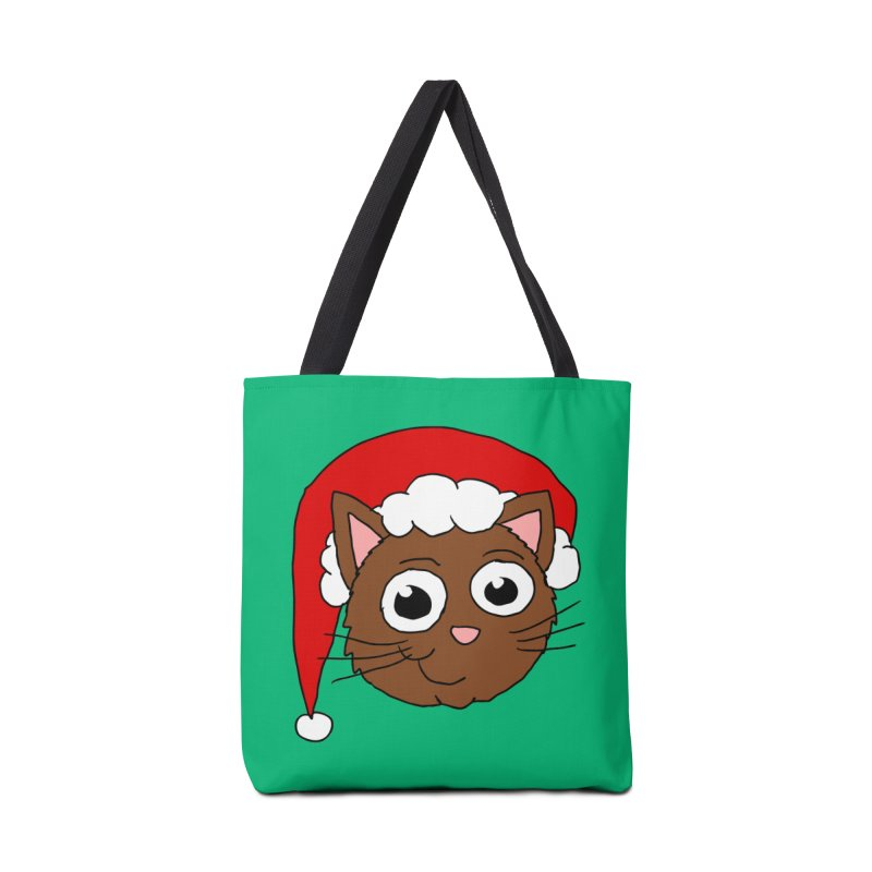 Cute Xmas Kitty Accessories Bag by ericallen's Artist Shop