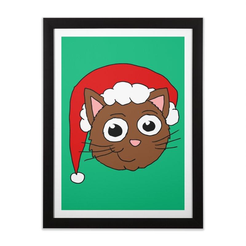 Cute Xmas Kitty Home Framed Fine Art Print by ericallen's Artist Shop