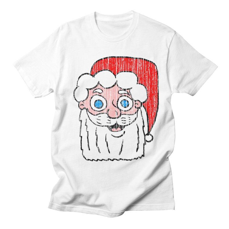 Vintage Cartoon Santa Head in Men's T-Shirt White by ericallen's Artist Shop