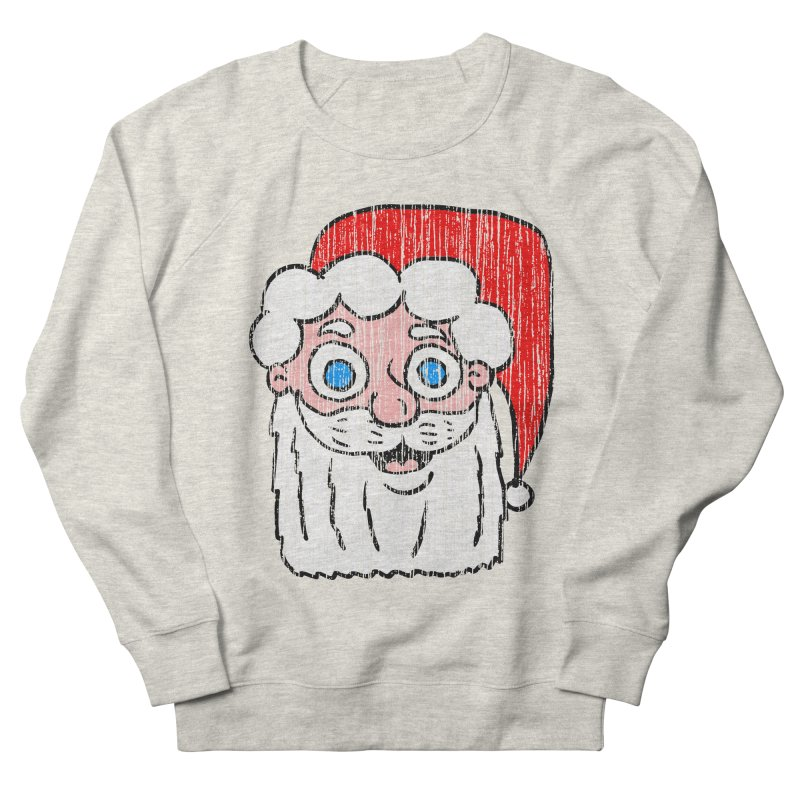 Vintage Cartoon Santa Head Women's Sweatshirt by ericallen's Artist Shop