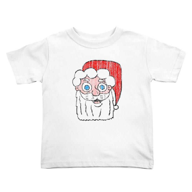 Vintage Cartoon Santa Head Kids Toddler T-Shirt by ericallen's Artist Shop