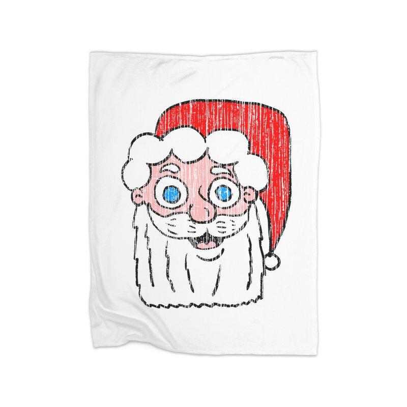 Vintage Cartoon Santa Head Home Blanket by ericallen's Artist Shop