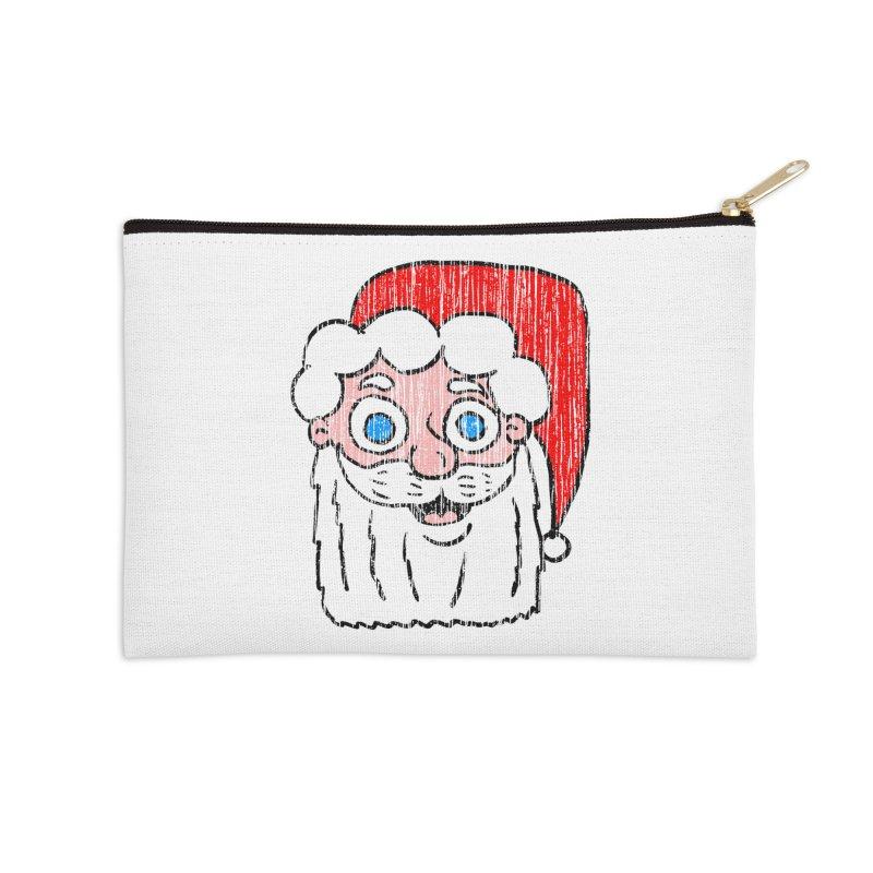 Vintage Cartoon Santa Head Accessories Zip Pouch by ericallen's Artist Shop