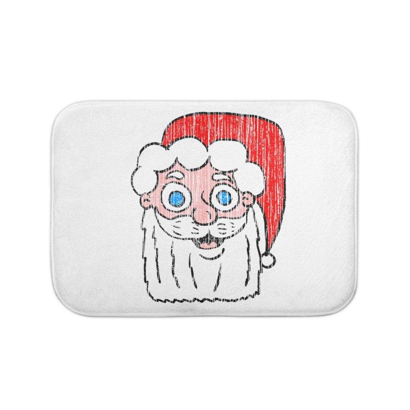 Vintage Cartoon Santa Head Home Bath Mat by ericallen's Artist Shop