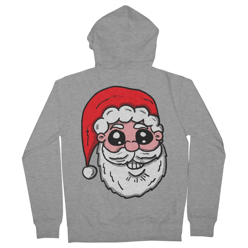 Santa Face Women's Zip-Up Hoody by ericallen's Artist Shop