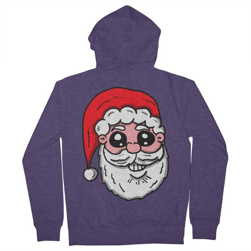 Santa Face Men's Zip-Up Hoody by ericallen's Artist Shop