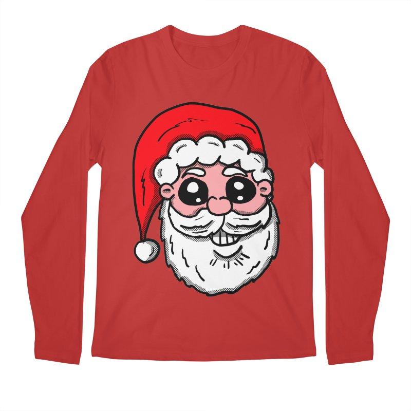 Santa Face Men's Longsleeve T-Shirt by ericallen's Artist Shop