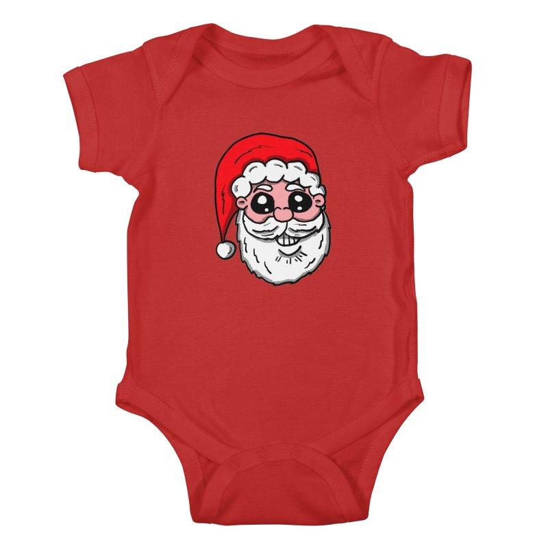 Santa Face Kids Baby Bodysuit by ericallen's Artist Shop