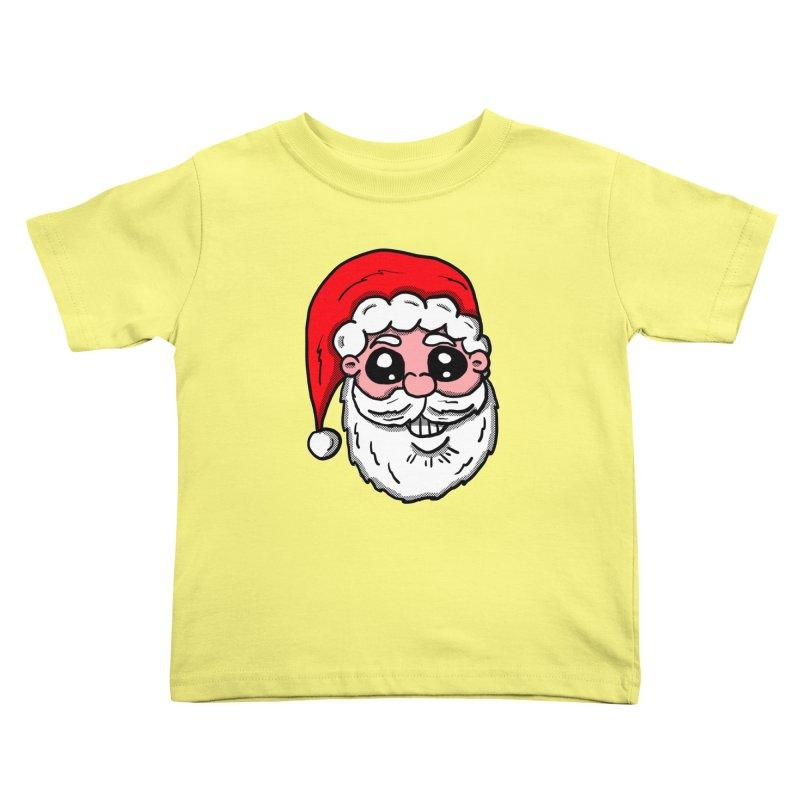 Santa Face Kids Toddler T-Shirt by ericallen's Artist Shop