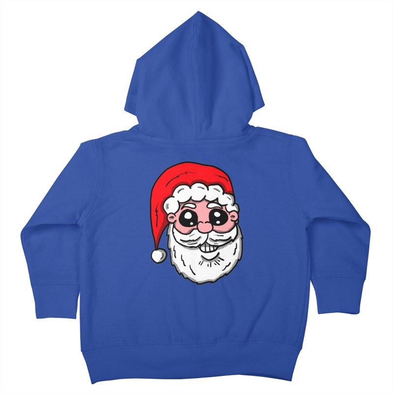 Santa Face Kids Toddler Zip-Up Hoody by ericallen's Artist Shop