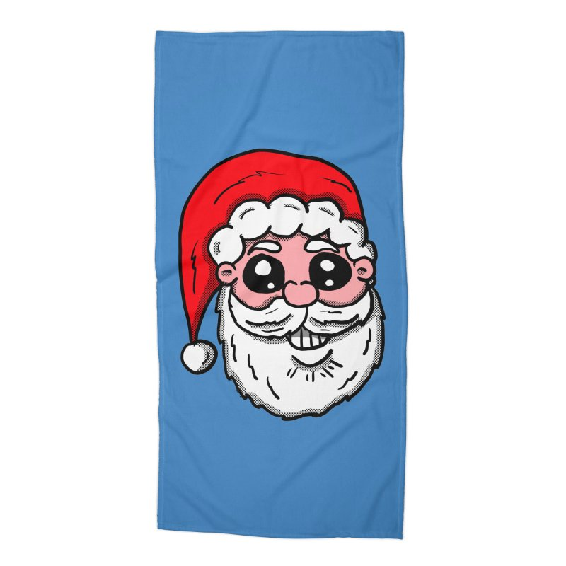 Santa Face Accessories Beach Towel by ericallen's Artist Shop