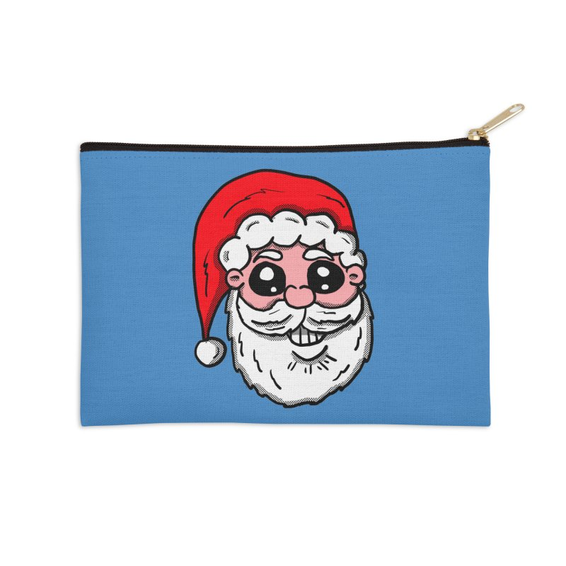 Santa Face Accessories Zip Pouch by ericallen's Artist Shop