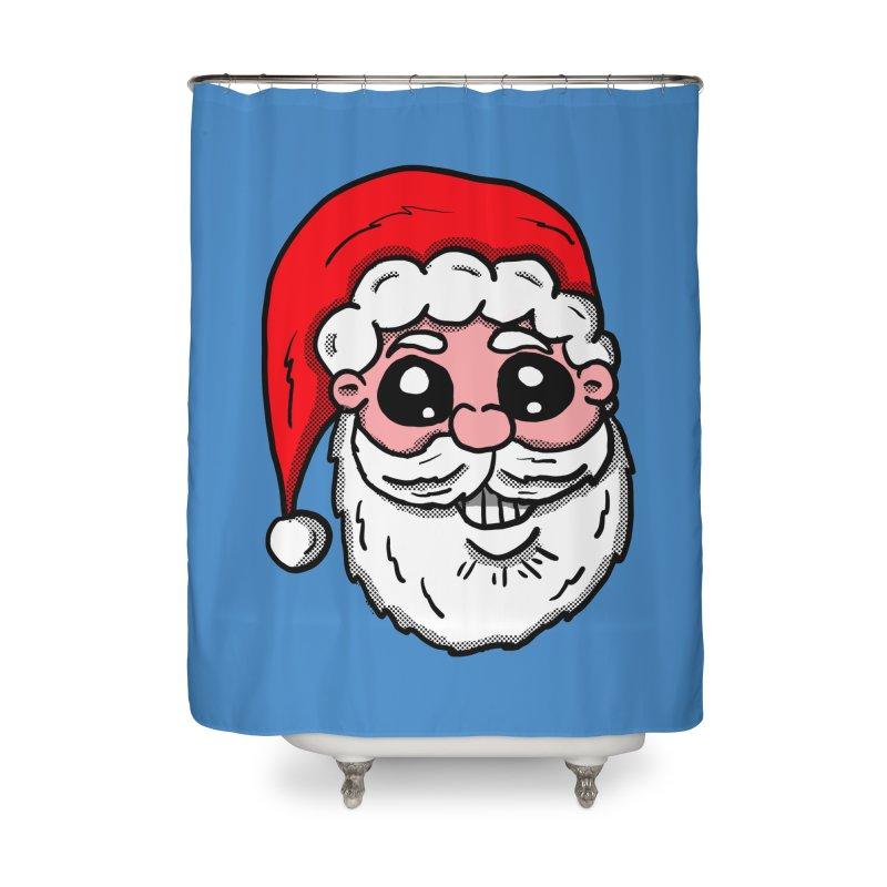 Santa Face Home Shower Curtain by ericallen's Artist Shop