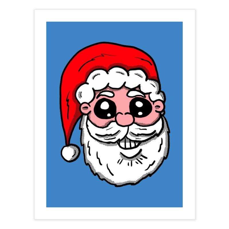 Santa Face Home Fine Art Print by ericallen's Artist Shop
