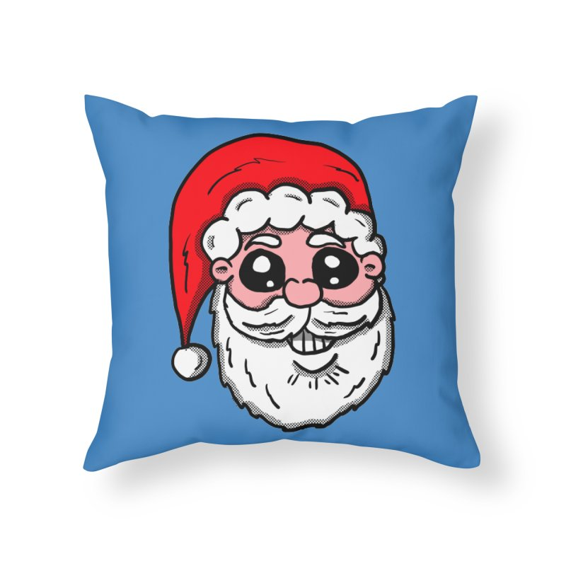 Santa Face Home Throw Pillow by ericallen's Artist Shop