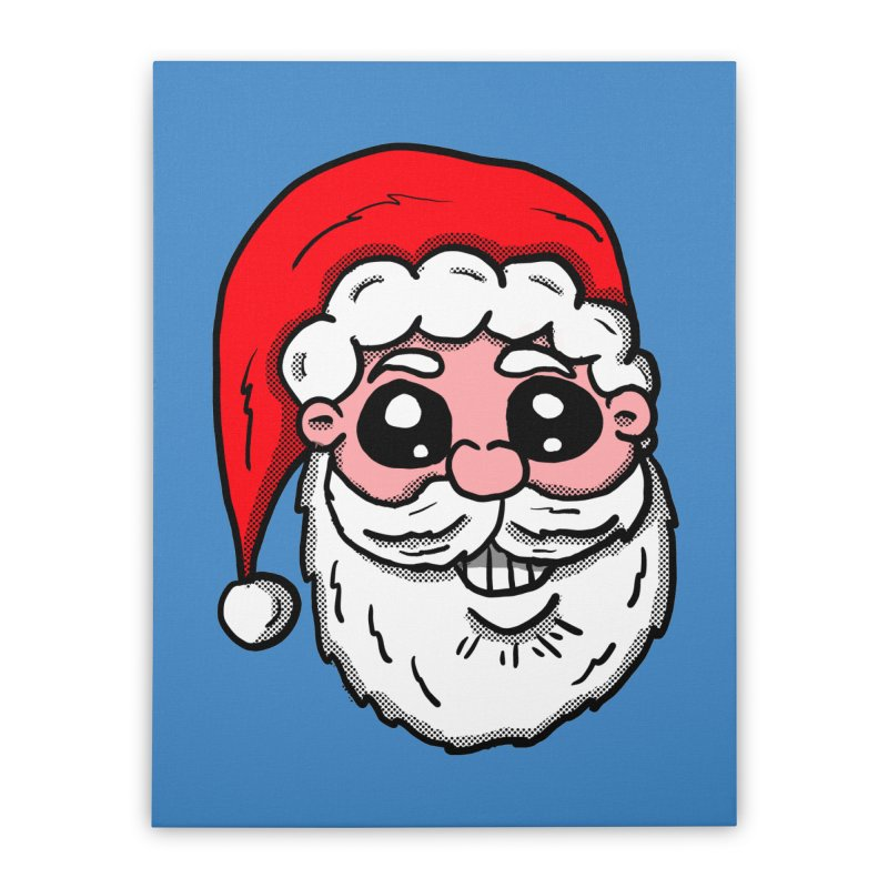 Santa Face Home Stretched Canvas by ericallen's Artist Shop