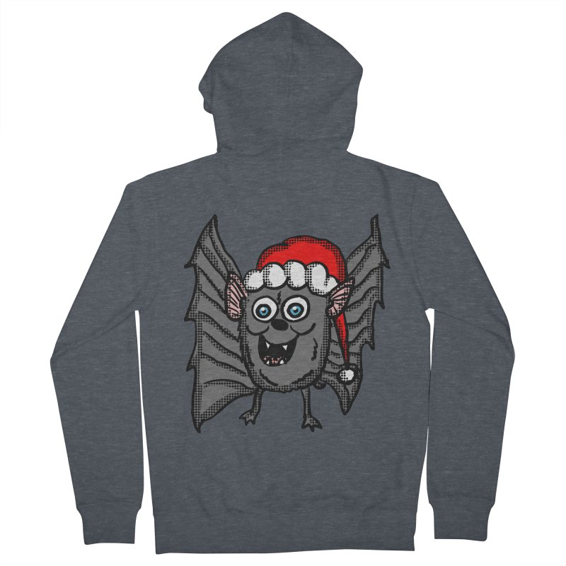 Christmas Bat Women's Zip-Up Hoody by ericallen's Artist Shop